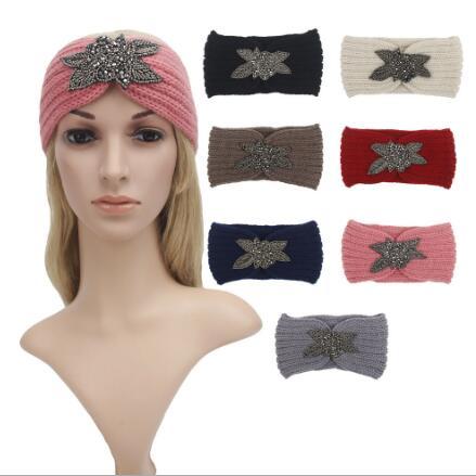 d244cec9d09e4d 2016 mode Frauen Damen Winter Crochet Strick Kristall Strass Turban  Stirnband Perlen Blumen juwel Haarband in 2016 mode Frauen Damen Winter  Crochet Strick ...