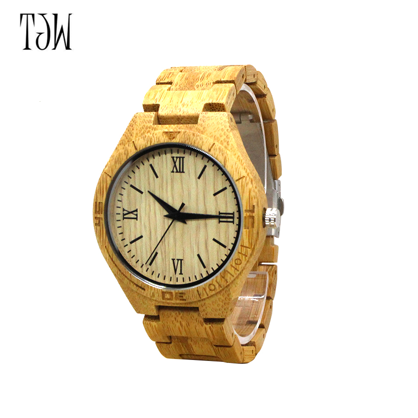 TJW New arrival Watches Men japanese miyota movement wristwatches  men bamboo wooden watches men and women japanese miyota 2035 movement wristwatches genuine leather bamboo wooden watches for men and women gifts relogio masculino
