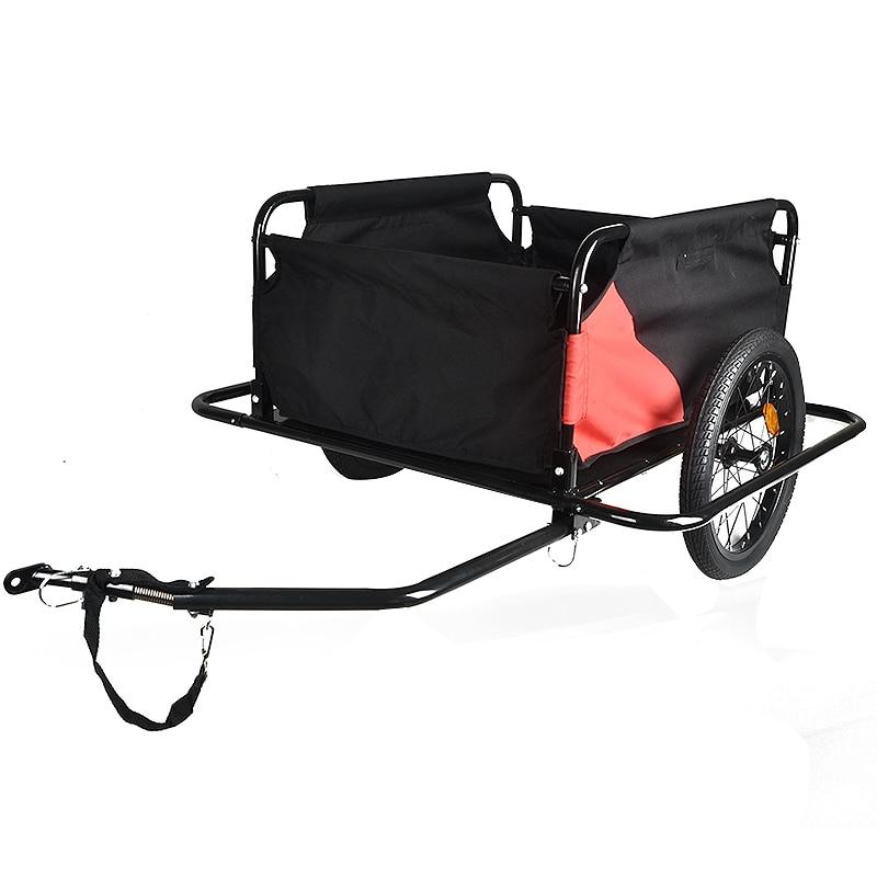 100 кг складной двойной колесо велосипеда трейлер Чемодан домашних животных корзину перевозчика с дождевик для Открытый Фитнес Бодибилдинг