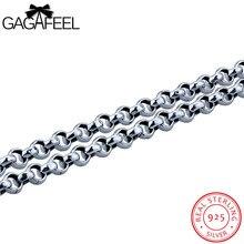 GAGAFEEL Maxi Collares 925 Tailandés Esterlina de Plata-Joyería De Los Hombres de La Vendimia Punky Regalo de La Cadena de Acoplamiento Macho Novio 3-5 Ancho Whoelsale