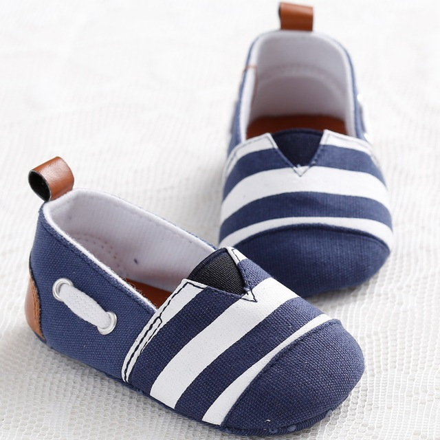 d4d1265cb5eb Newborn Baby Boys Kids Shoes Brand Infant Toddler Striped Classic Canvas  Chaussure Slip-On Child Sapatinhos bebe Sapatos