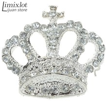 Imixlot Brand New Crown Crystal Rhinestone Pin Brooch For Women Wedding Party Jewelry Clothing Accessories