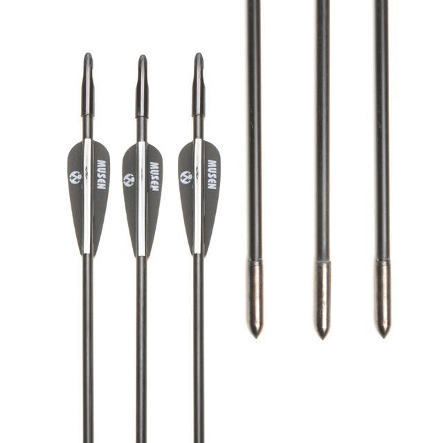 Spine1200 Fiberglass 6/12/24pcs 30″ Arrow Black and White Fiberglass Arrow for Recurve Bow Archery New Training Archers K