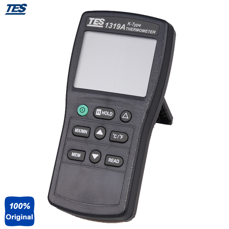 цена на TES-1319A K Thermocouple Thermometer Input Industrial Digital Thermocouple Thermometer with Data Hold Function