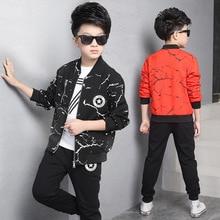 Мода 2016 Новая Коллекция Весна Осень Мальчики Пальто Мода Черный Красный Белый Дети Куртки детские Куртки Мальчиков Пальто Бейсбол Верхняя Одежда Пальто