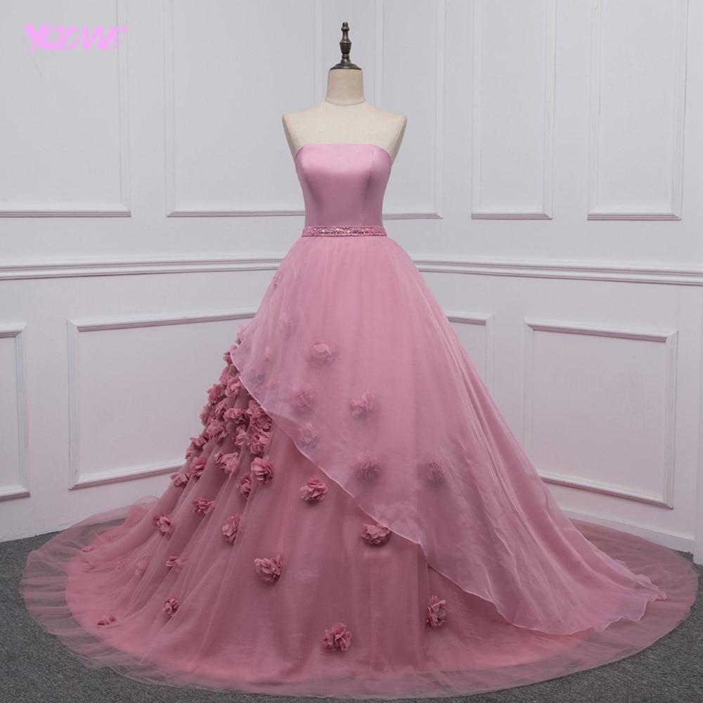 YQLNNE robe de bal Quinceanera robes Debutante 3D fleurs douce 16 robe