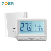 868MHz Wireless Boiler Room Controller Digital Wifi Thermostat Home Floor Heating Controller Weekly Programmable For 16A