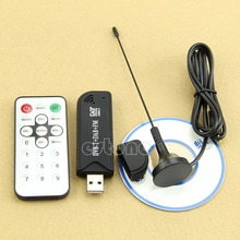 1Pc USB2.0 Digital DVB-T SDR+DAB+FM HDTV TV Tuner Receiver Stick HE RTL2832U+R820T