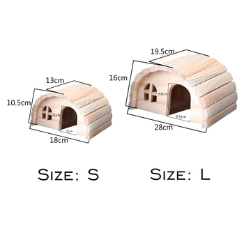 1pcs Pet Wooden Exquisite House Lovely Natural Chew Toys for Little Hamsters Rabbit chinchillas Pets 1