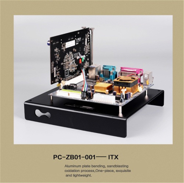 DEBROGLIE New Arrivals ITX Aluminum Motherboard Bracket DIY tray ITX Platform mini ITX Case for PC Computer цена