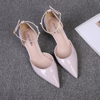 Womens Heels With Ankle Strap Luxurious Designer Shoes With Rivets Large Size 34 42 Party Pumps