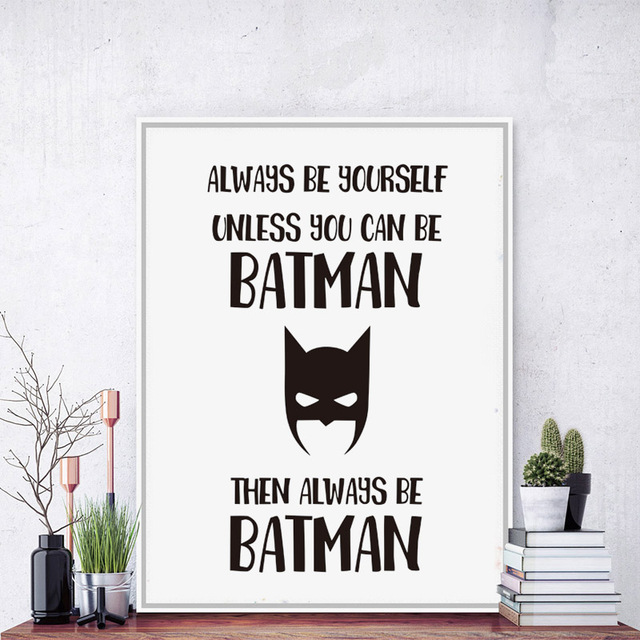 always be yourself be superhero canvas art print poster painting