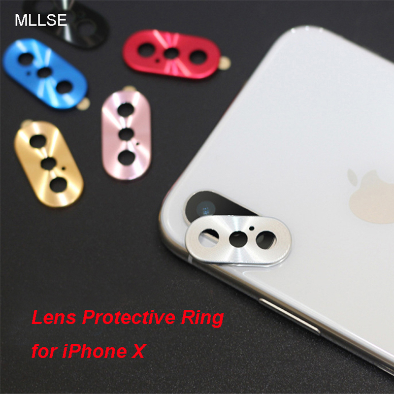 MLLSE Luxury Camera Guard Circle Metal Lens Film Protector Case Cover Ring Bumper For iPhone X Lens Protection Ring