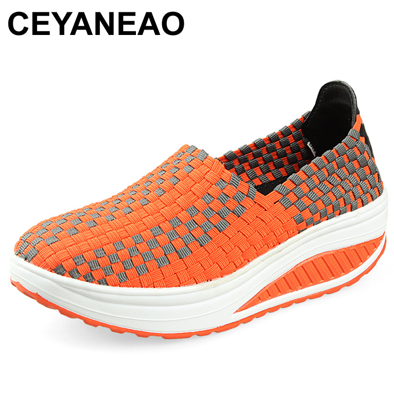 CEYANEAO2018Spring Summer Breathable Women Hand Elastic Woven Shoes Flat slip on Platform ShoesE978CEYANEAO2018Spring Summer Breathable Women Hand Elastic Woven Shoes Flat slip on Platform ShoesE978