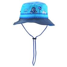 ФОТО summer unisex kids mesh sun hats boys girls outdoor sports bucket hats for children cartoon car fishing cap kids fisherman hat