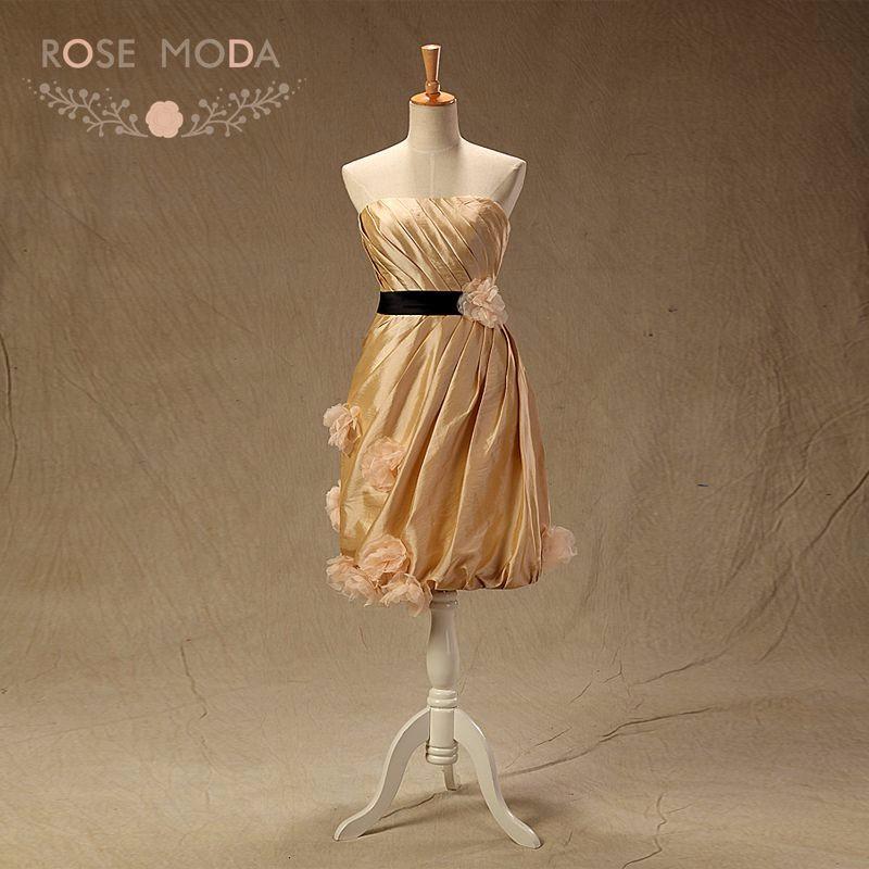 gold bm dress