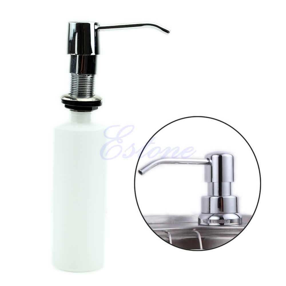stainless steel soap dispenser kitchen sink s103 300ml plastic stainless steel bathroom kitchen sink 9419