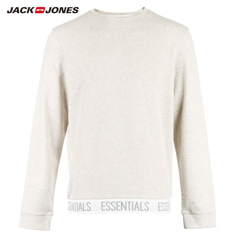 Image 5 - Jack Jones Men's Winter Knitted Cotton T shirt Sports Homewear Soft Warm 2019 New Brand Menswear 2183HE502-in T-Shirts from Men's Clothing