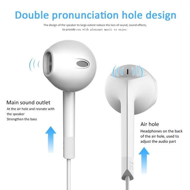 Langsdom E6U In-ear Earphone for iPhone Bass Headset with Microphone Phone Earphones for Xiaomi Airpods Earpods fone de ouvido