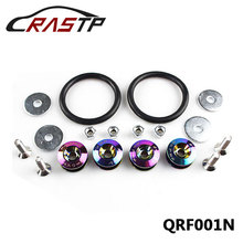 JDM Neo Chrome Quick Release Fasteners For Car Bumpers Trunk Fender Hatch Lids Kit Rastuningparts RS