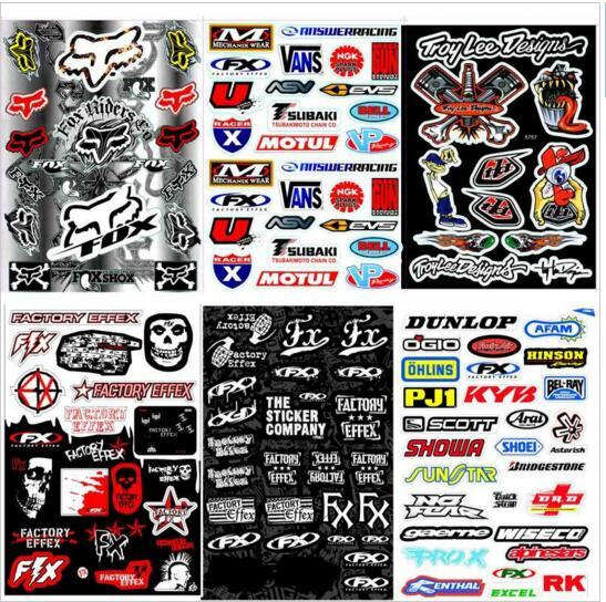 1pcs decals stickers pit dirt bike racing street off road motocross cross motorcycle scooter atv for kawasaki motorcycle decal in decals stickers from