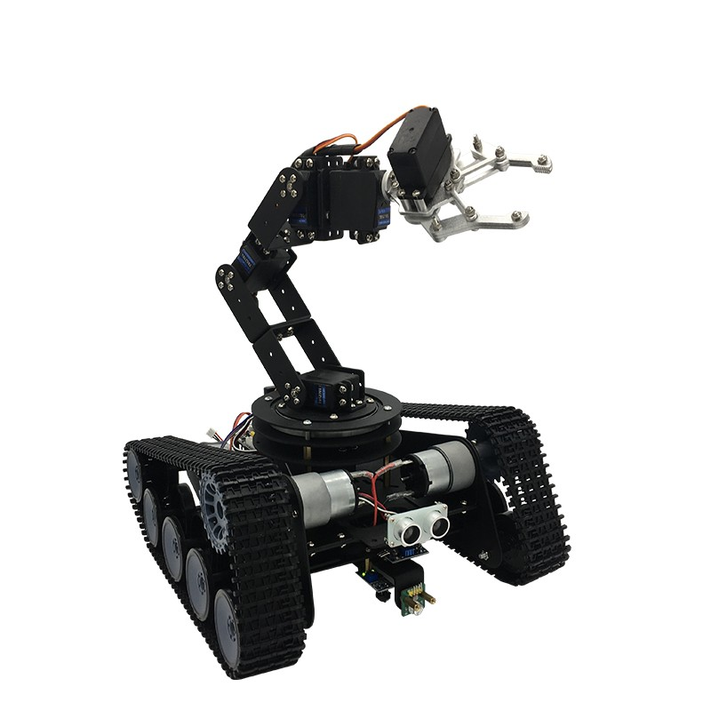 2018 Suooport PS2 Controller/App Control Open Source Robot Tank Car 6DOF Mechanical Arm Tracking Gripping