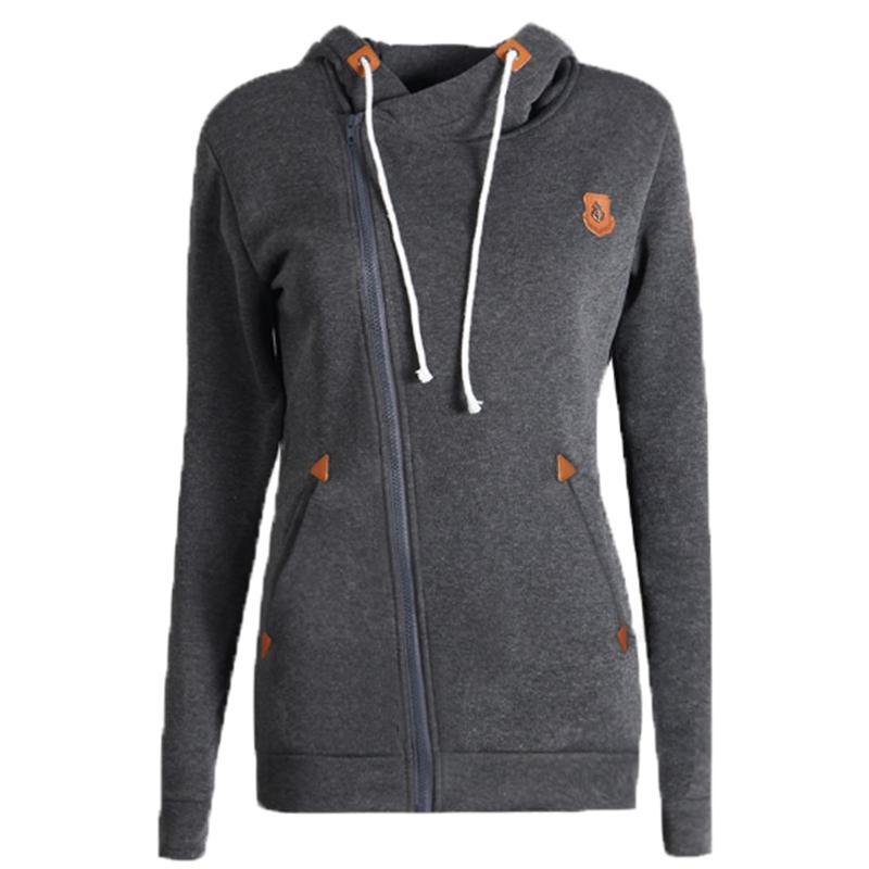 Fashion Solid Women Hoodies Sweatshirts Spring Autumn Hoodies Women Zipper Design Warm Hoody Women Hoody Sweatshirt