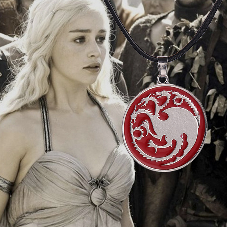 Game of Thrones Necklace Song of Ice And Fire Tanzania Targaryen Dragon Badge Pendant Necklace