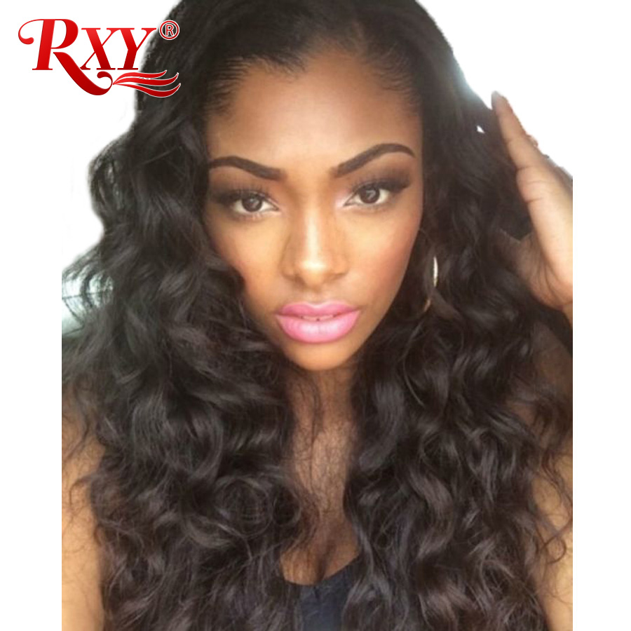 RXY Body Wave Brazilian Wig 180% Glueless Lace Front Human Hair Wigs With Baby Hair Lace Front Wigs For Women Non Remy Black
