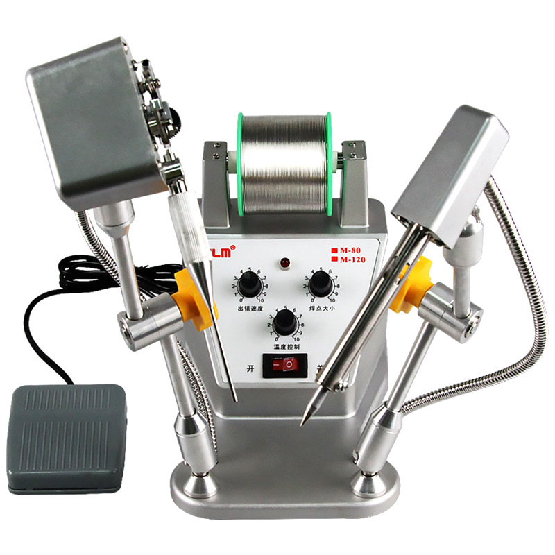 80W Automatic Soldering Machine Robot M-80 Tin Feeding Machine Automatic Threading Thermostat Soldering Machine