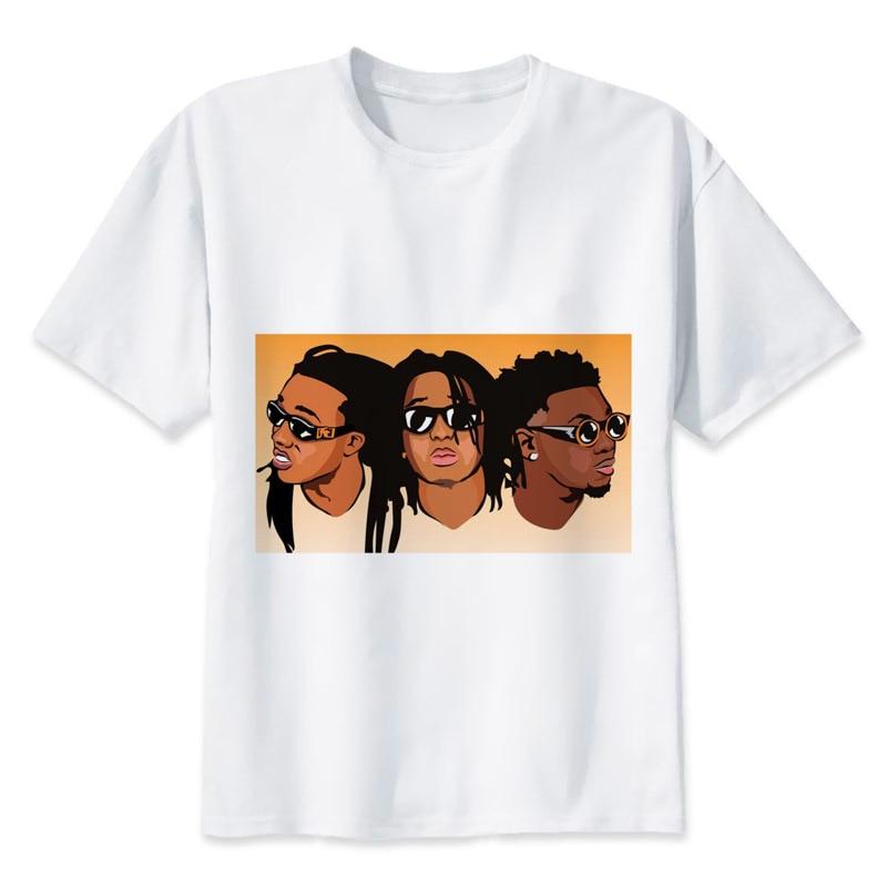 Migos t shirt men summer fashion high quality t shirt for Best quality mens white t shirts