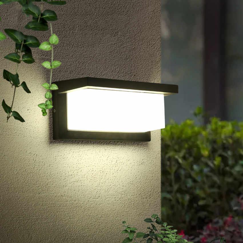Outdoor LED Lighting Motion Sensor LED Wall Light Waterproo Courtyard 18W 30W Modern Wall Lamp Garden Corridor Porch Door Decora