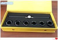 Titantium Made 5537 Rillen Uhr Fall Zurück Eröffnung Schlüssel und Sterben Chuck Set für Uhr Reparatur-in Reparatur-Werkzeuge & Kits aus Uhren bei
