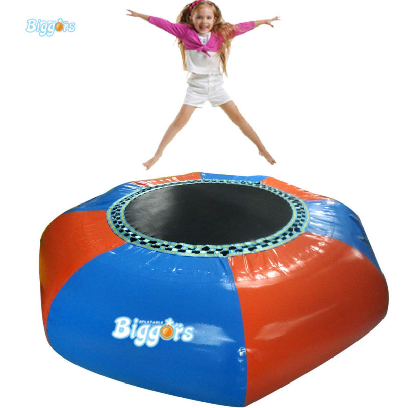 Inflatable Biggors 3 M diameter 0.9mm PVC Inflatable Trampoline Water Sports Games цена 2017