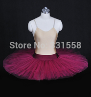 Adult Wine Red Half Ballet Tutu Half Ballet Tutu For Children Tutu Skirts Adults Pancake Tutu