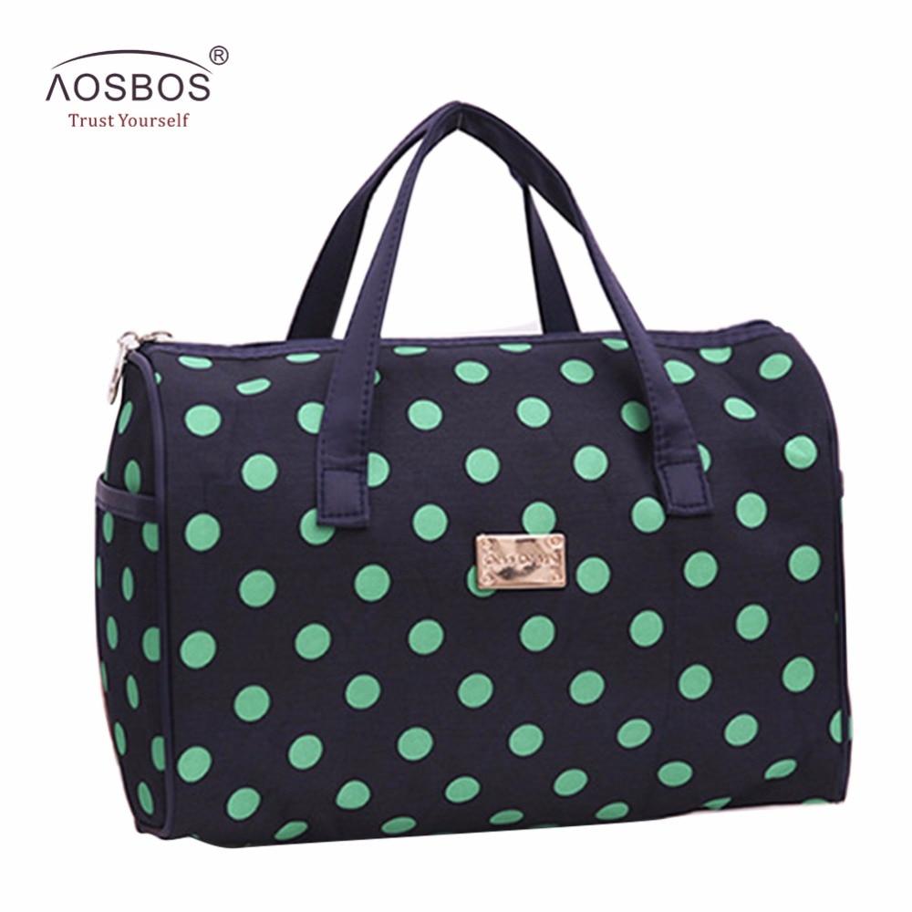 Aosbos Women Solid Waterproof Makeup Bag
