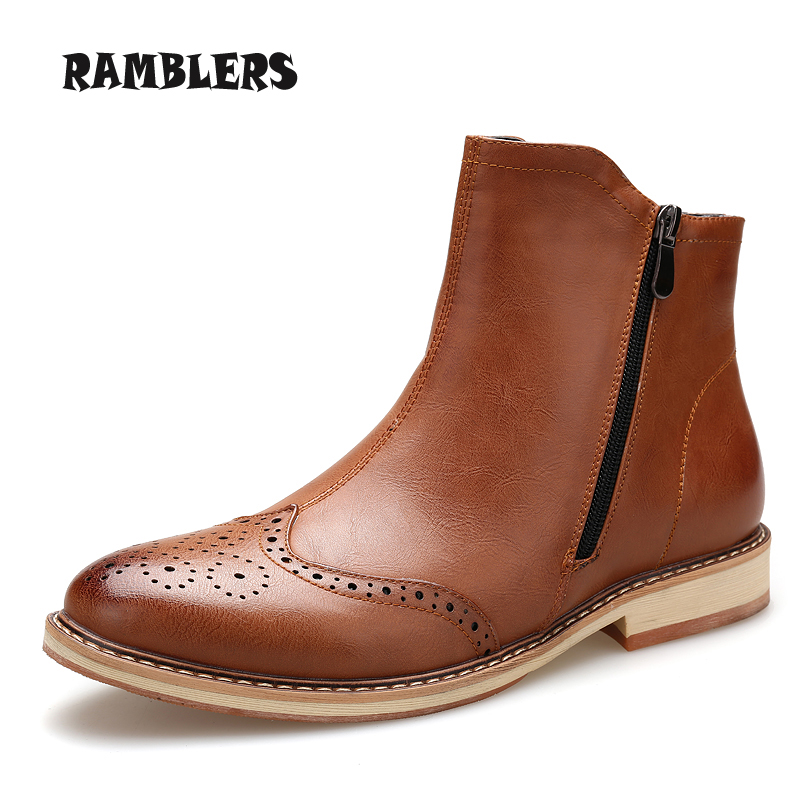 Leather Dress Boots for Men Promotion-Shop for Promotional Leather ...