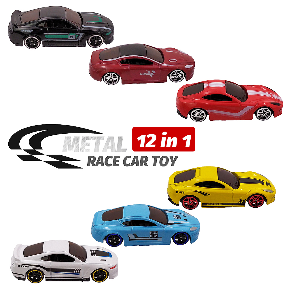 Image 3 - 12 Metal Toy Cars 12in1 Super Value Alloy Diecast Toy Vehicles Model Truck Race Car Play Set 12 Mini Cars for Boys Gift for Kids-in Diecasts & Toy Vehicles from Toys & Hobbies