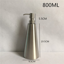 800ml 304 Stainless Steel Liquid Soap Dispenser Hand Sanitizer Bottle for Bathroom Kitchen Countertop Bathroom Accessory WY-002