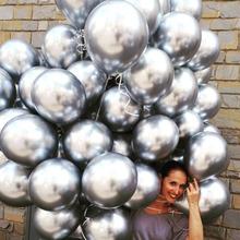 1 pc 18 cal metalowe Balon Wedding Party balony Balon z nadrukiem Happy Birthday 4D bańki metalowe chromowane Balon powietrza Balon helem Balon tanie tanio Ballon Ślub Birthday party Ślub i Zaręczyny Okrągły kuchang s465