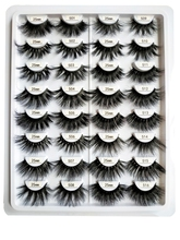 HEXUAN 5dmink 25mm long Eyelashes  Natural false 100% Cruelty Free full strip lashes for makeup beauty custom box private lable