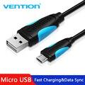 Cable Micro USB Vention Cable de carga rápida para teléfono móvil Android Cable cargador de sincronización de datos 3 M 2 M 1 M para Samsung HTC Xiaomi Sony