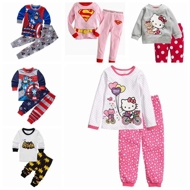 9a9f06f29 New Kids Pajamas Sets Girls Cartoon Pattern Night Suit Children ...
