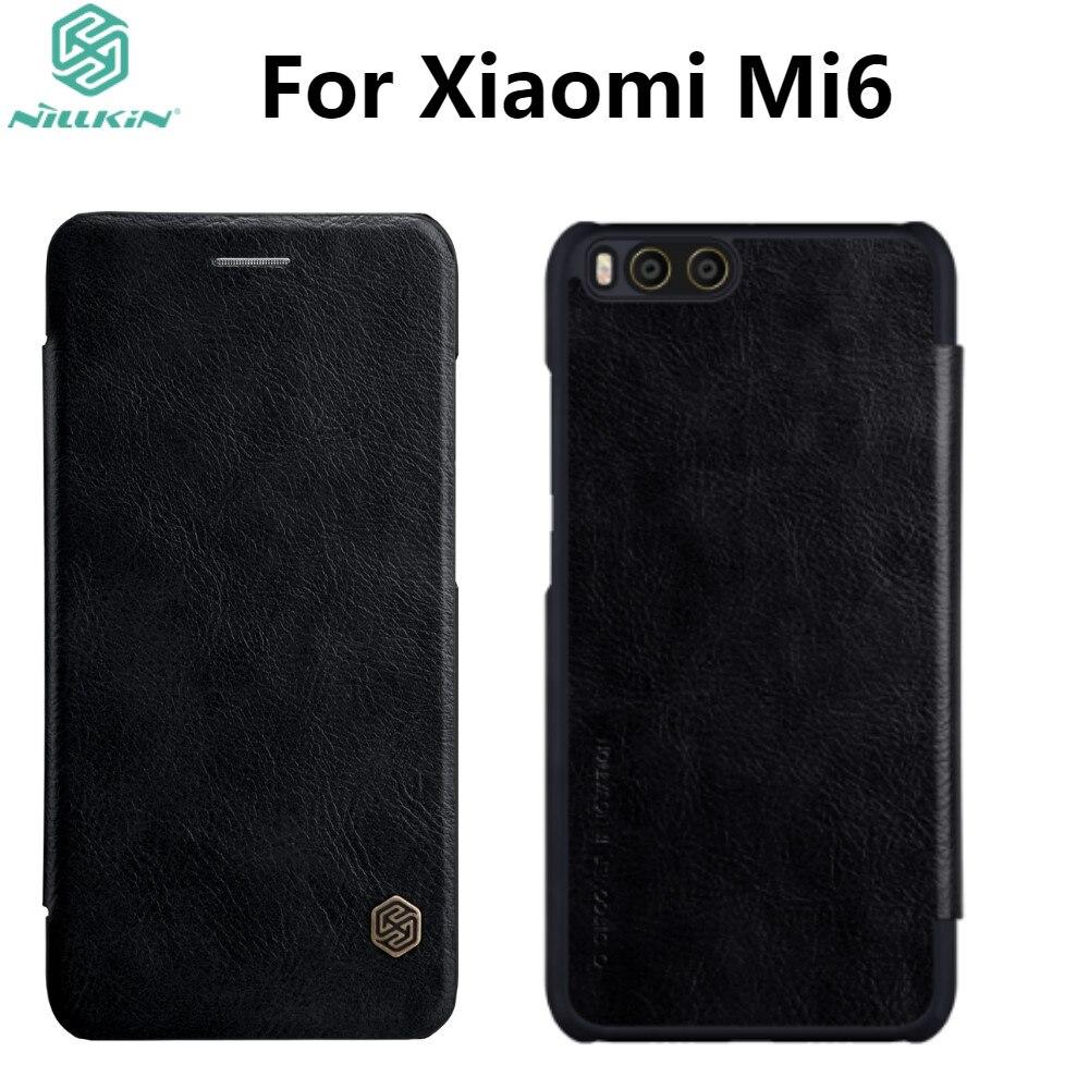 Xiaomi Mi6 Custodia In Pelle NILLKIN Qin Serie di Vibrazione Del Raccoglitore Della Copertura Per Il caso di Xiaomi Mi6 M6 Genuino Caso di Vibrazione del Cuoio Del Telefono copertura