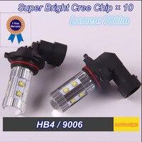 2014 New Product 2 PCS HB4 9006 Cree X 10 DC12V Led Car Lamp High Power