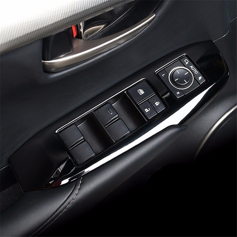 car accessories interior NX300h 200t 200 modified carbon fiber four button control panel lifting FOR Lexus NX series