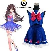 Free Shipping OW Satya Vaswani Symmetra Dress Game Cosplay Costume