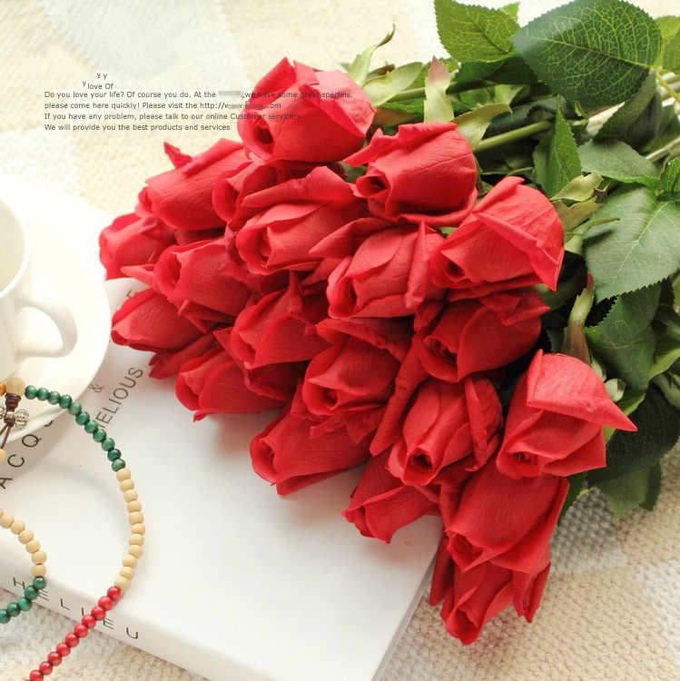 Бесплатная доставка (11 шт./лот) свежая роза Искусственные цветы реальные на ощупь розы цветы, украшения дома для Свадебная вечеринка или день рождения цветы искуственные тычинки цветов статуэтки декор дома штормгласс