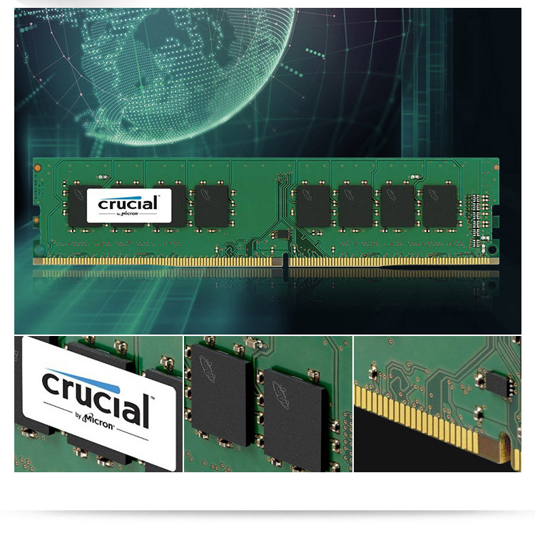 Image 4 - Crucial RAM DDR4 4G 8G 16G 2666 RAM DDR4 2666MHz 288 Pin For DesktopRAMs   -
