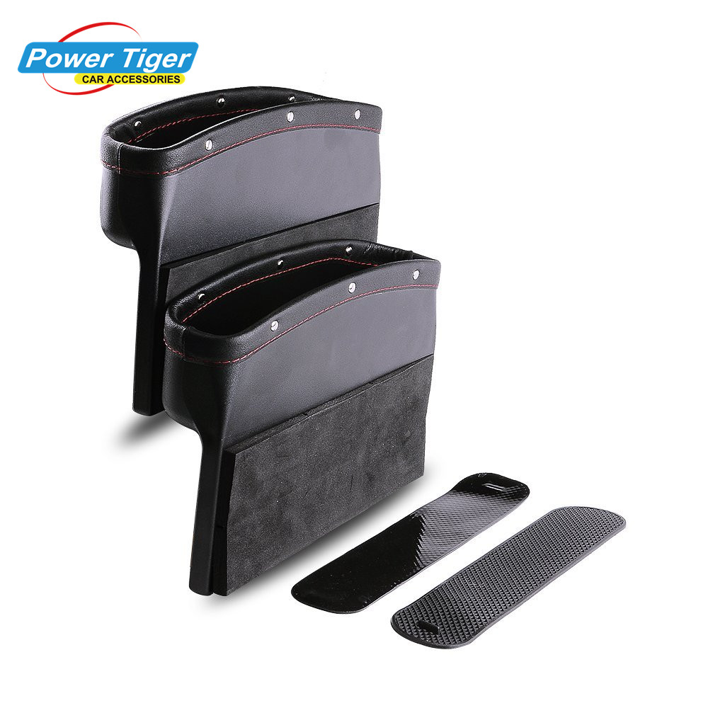 Car Seat Storage Pockets Box Leather Organizer Auto Gap Pocket Stowing Tidying for Phone key Card Coin Case Accessoies